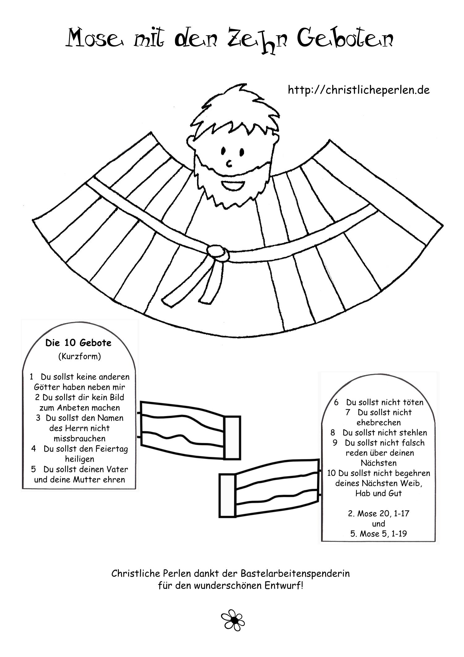 basteln zu den zehn geboten christliche perlen. Black Bedroom Furniture Sets. Home Design Ideas