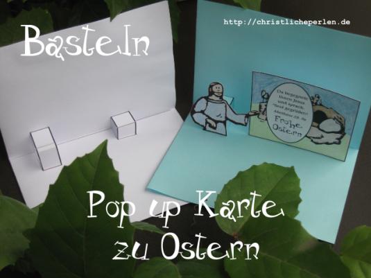 basteln pop up karte zu ostern christliche perlen