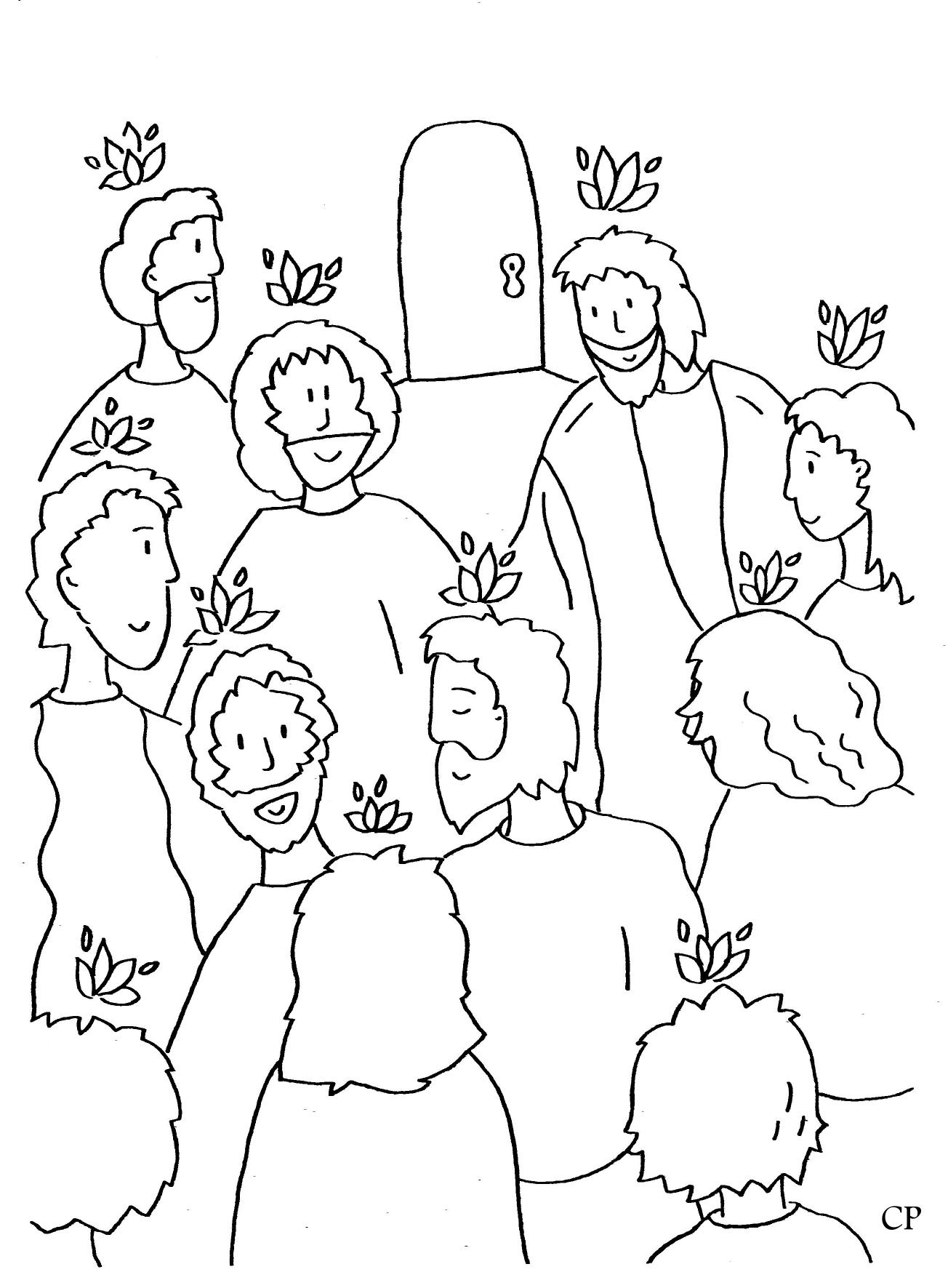 Ausmalbilder zu Pfingsten | Christliche Perlen