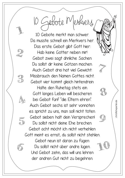 Gemütlich Zehn Gebote Die Blätter Färben Ideen ...