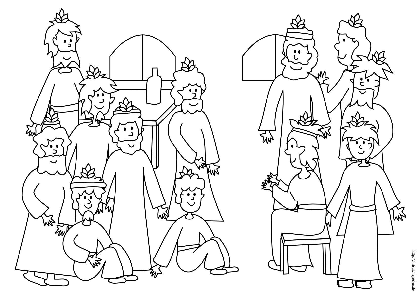 GRATIS AUSMALBILDER ZUR BIBEL KAPERNAUM - Ausmalbilder