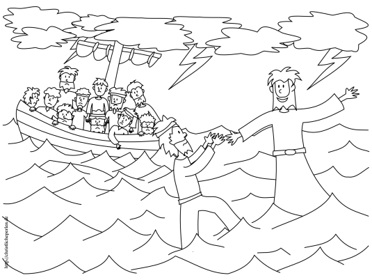 Petrus Ausmalbild