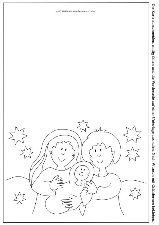 Weihnachtskarte ausmalen