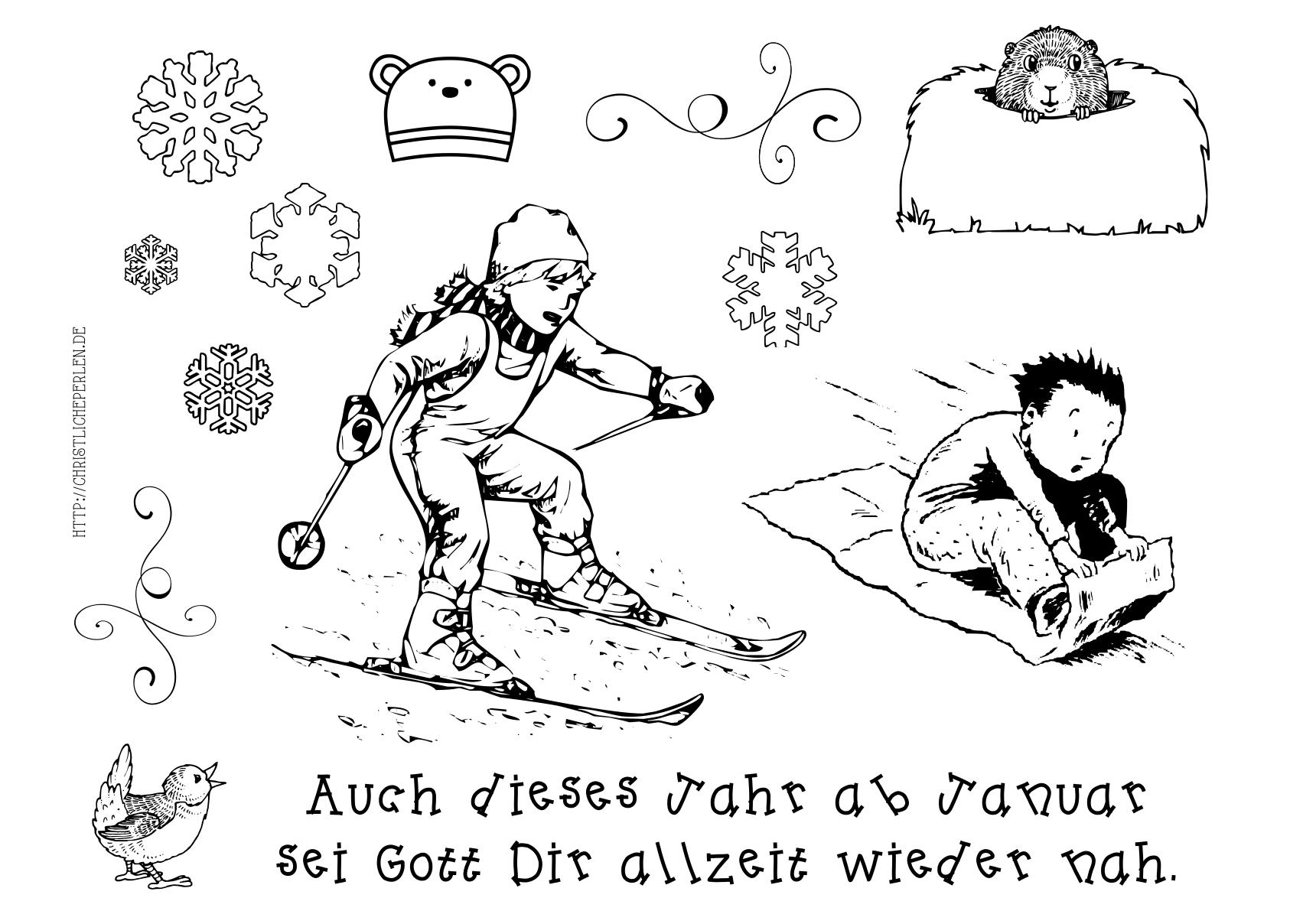 Fein Neue Jahre Druckbare Malvorlagen Fotos - Malvorlagen Von Tieren ...