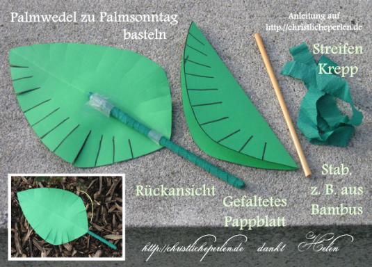 Palmwedel Basteln