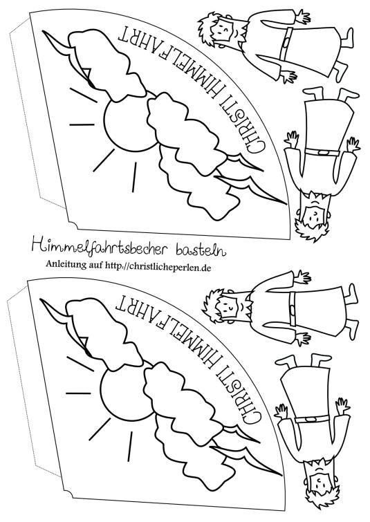 Himmelfahrt Bastelidee