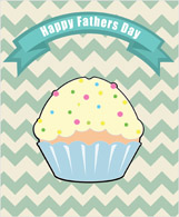 happy fathers day cupcake
