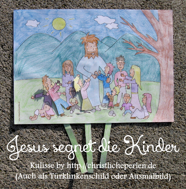 jesus segnet die kinder basteln christliche perlen. Black Bedroom Furniture Sets. Home Design Ideas