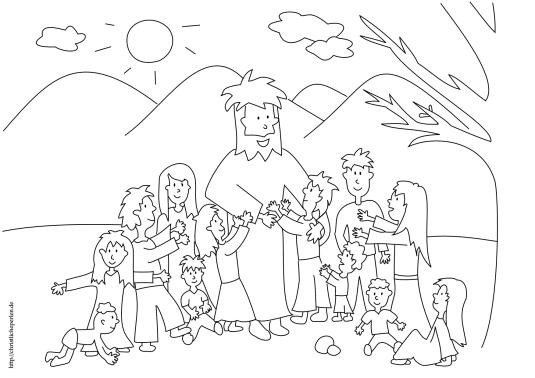 Jesus segnet Kinder ausmalen