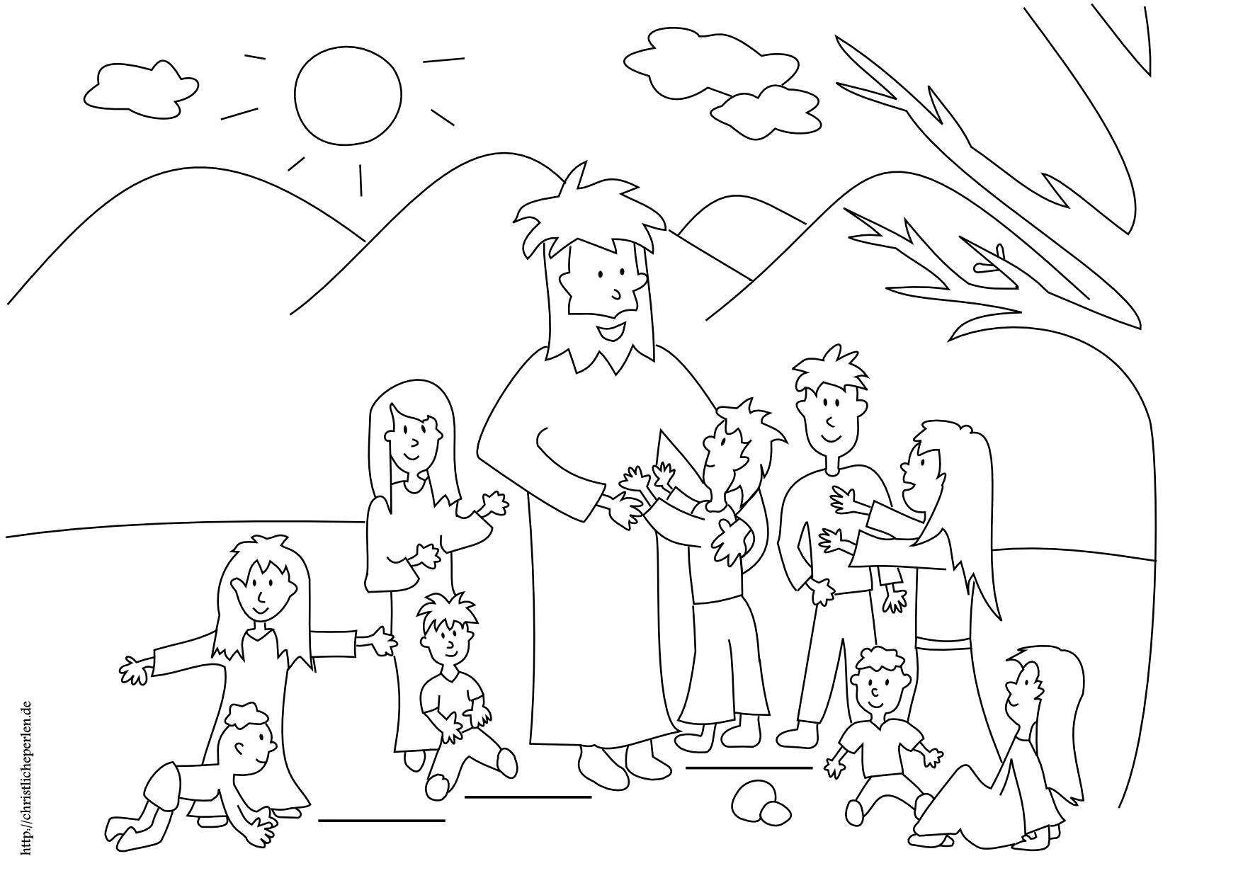 Jesus segnet die Kinder basteln | Christliche Perlen
