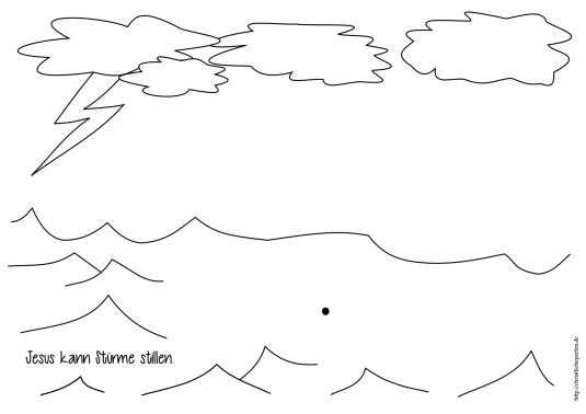 Jesus stillt den Sturm Basteln (2)