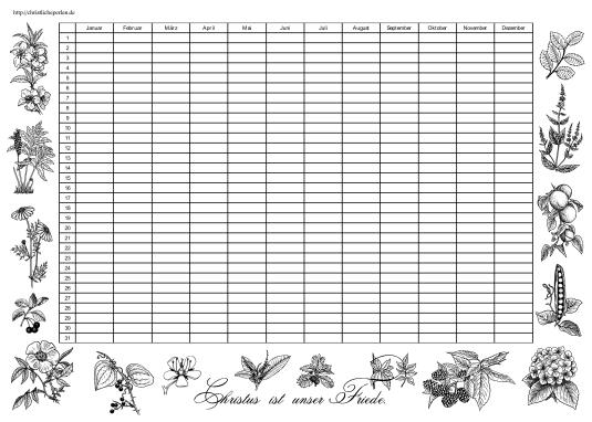 Kalender Blumen
