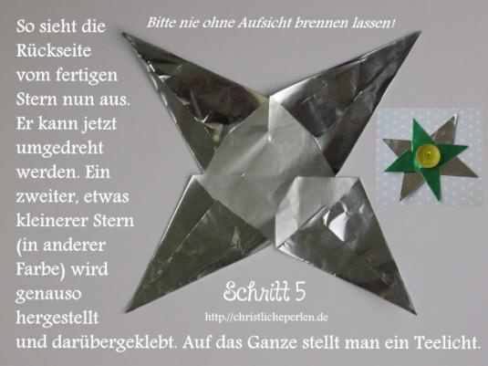 Stern basteln 6