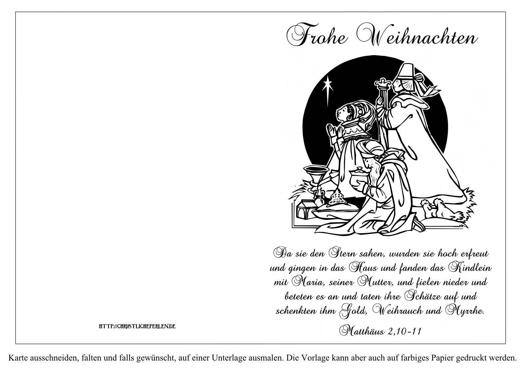Weihnachtskarten und Geschenkanhänger zum Ausdrucken | Christliche ...