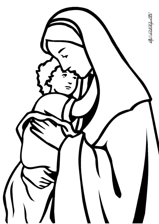 Jesus und Maria ausmalen