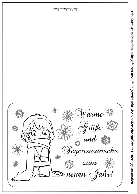 Neujahrskarte drucken