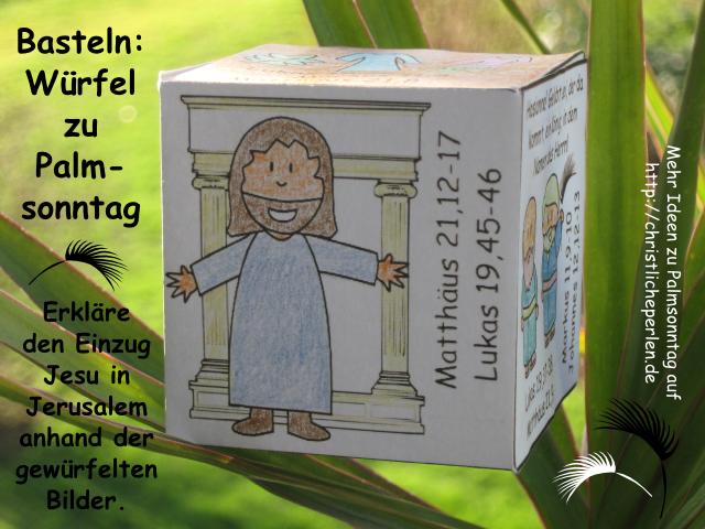 palmsonntag w252rfel basteln christliche perlen