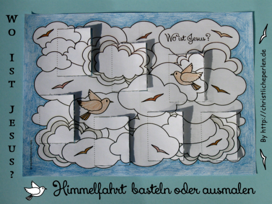 Himmelfahrt basteln Türchen Photo