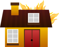 Haus brennt