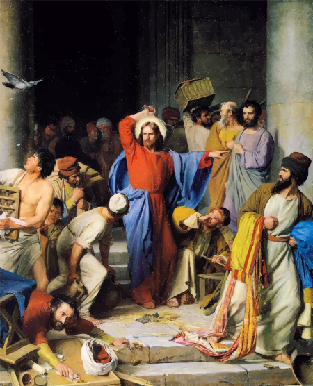 Jesus-Casting-Out-Money-Changers-By-Carl-Heinrich-Bloch