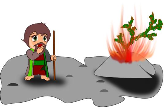 Mose und der brennende Busch