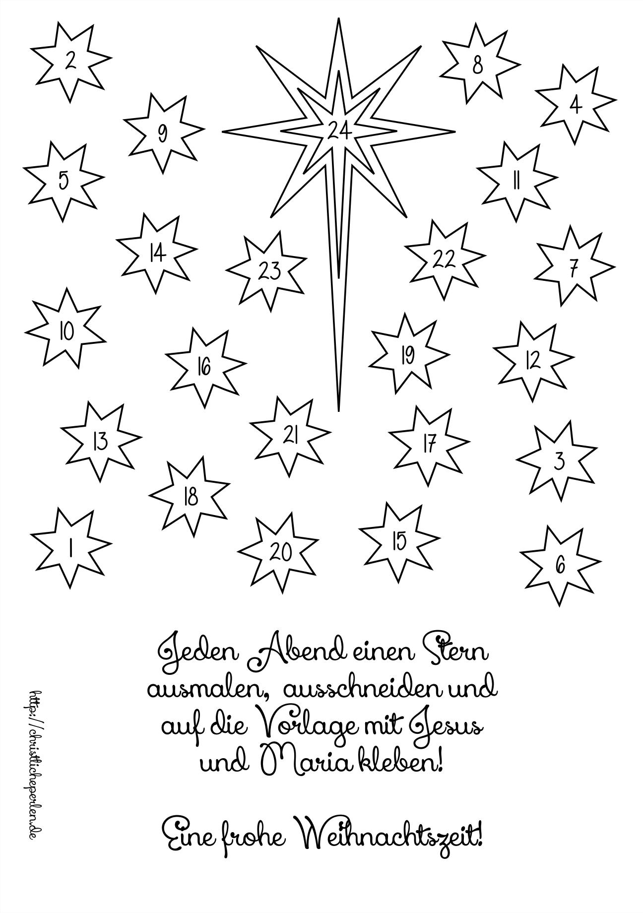 Stern basteln | Christliche Perlen