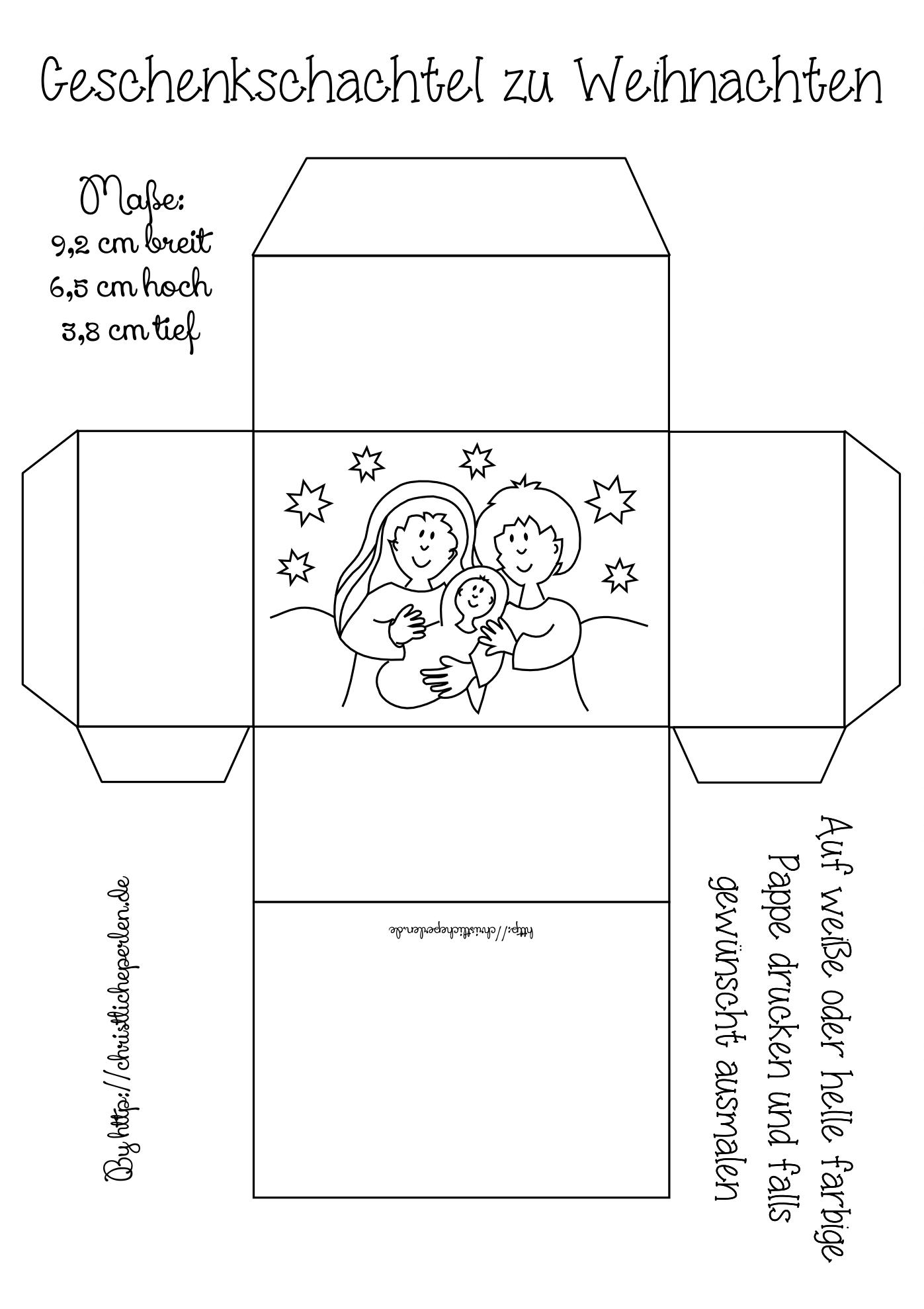 geschenkschachteln zu weihnachten basteln christliche perlen
