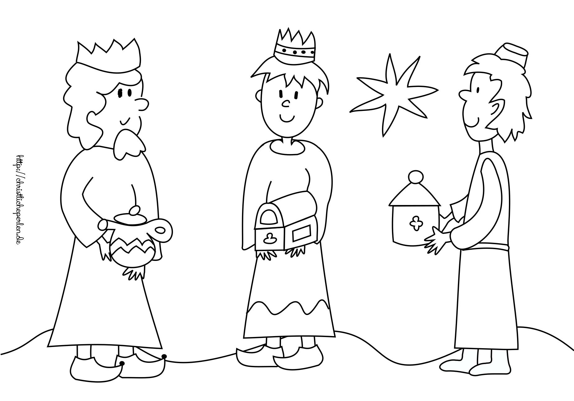 Ausmalbilder zu Weihnachten | Christliche Perlen