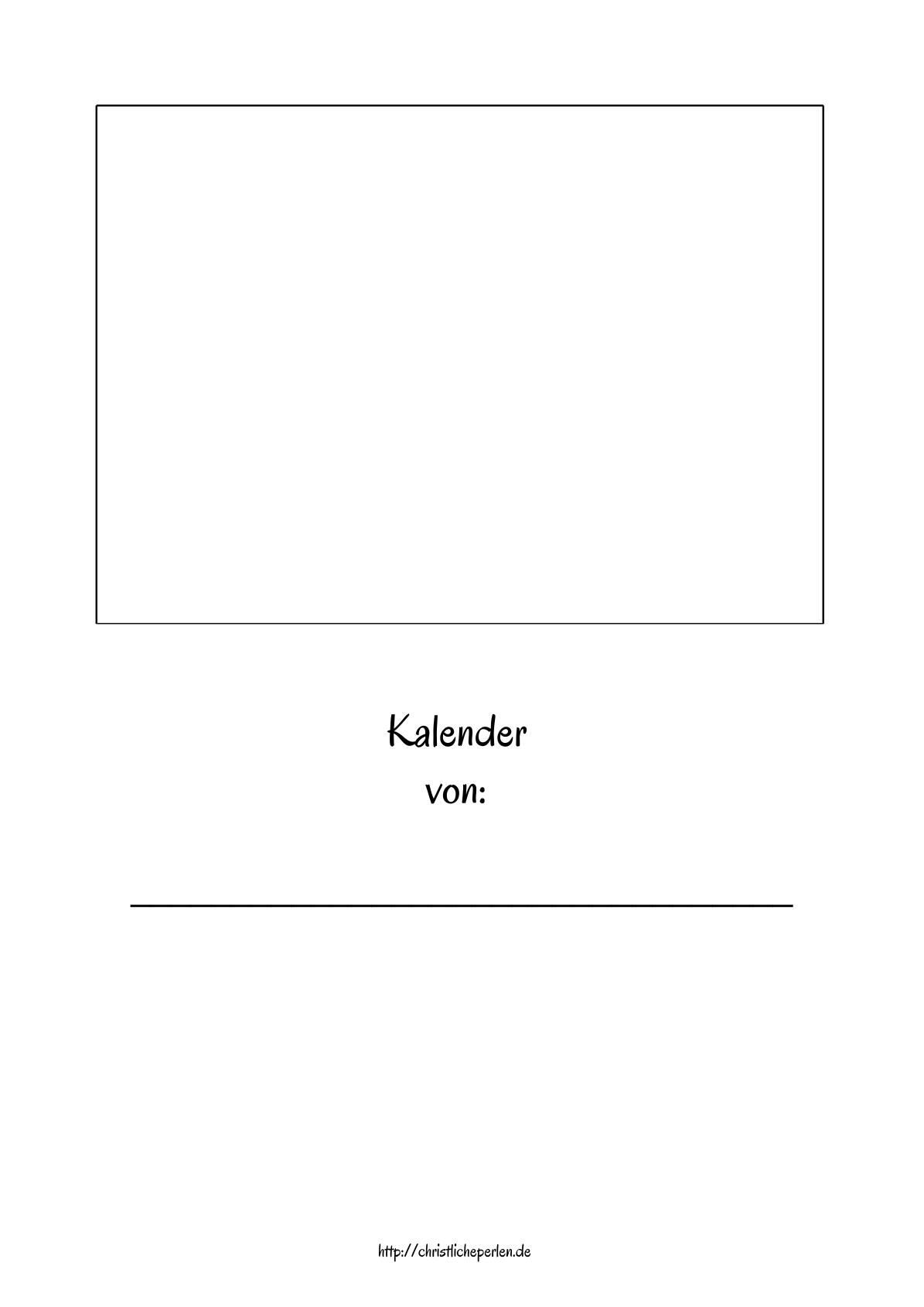 Neuer Kalender zum Ausdrucken und Selbstgestalten | Christliche Perlen
