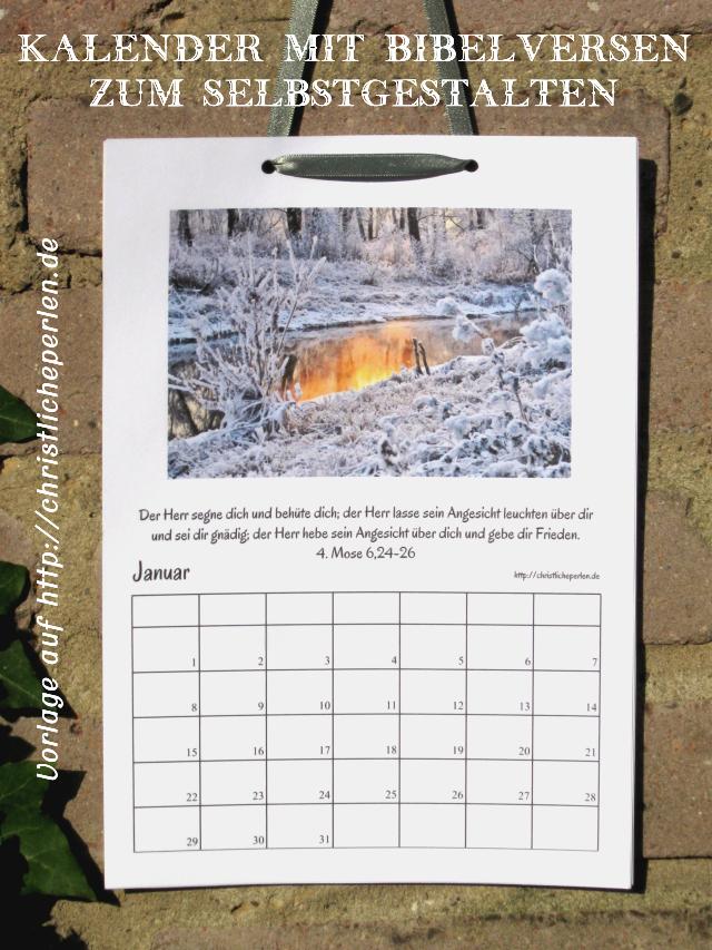 Neuer Kalender zum Ausdrucken und Selbstgestalten ...