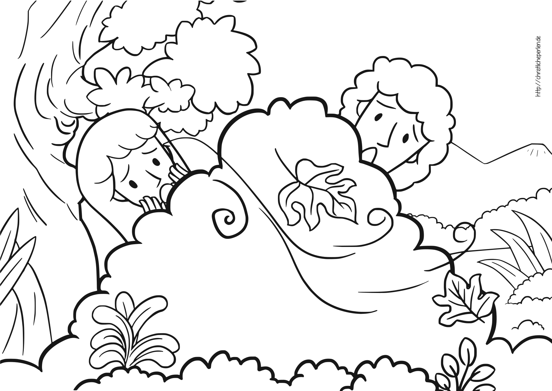 Adam und eva ausmalen adam and eve coloring pages for Adan y eva en el jardin del eden para colorear