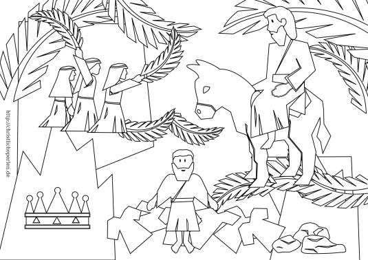 palmsonntag-ausmalbild