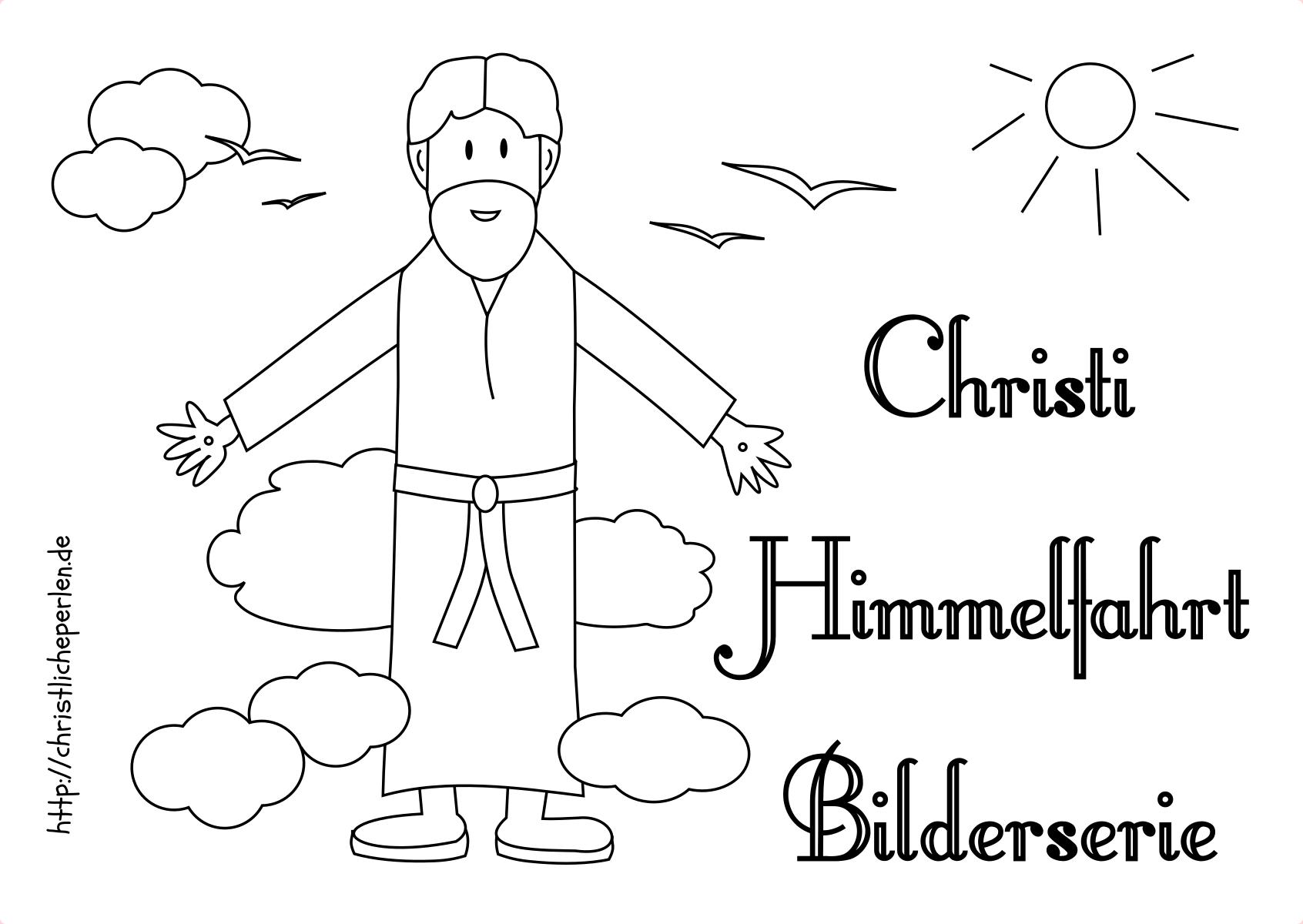 Ausmalbilder zu Himmelfahrt | Christliche Perlen