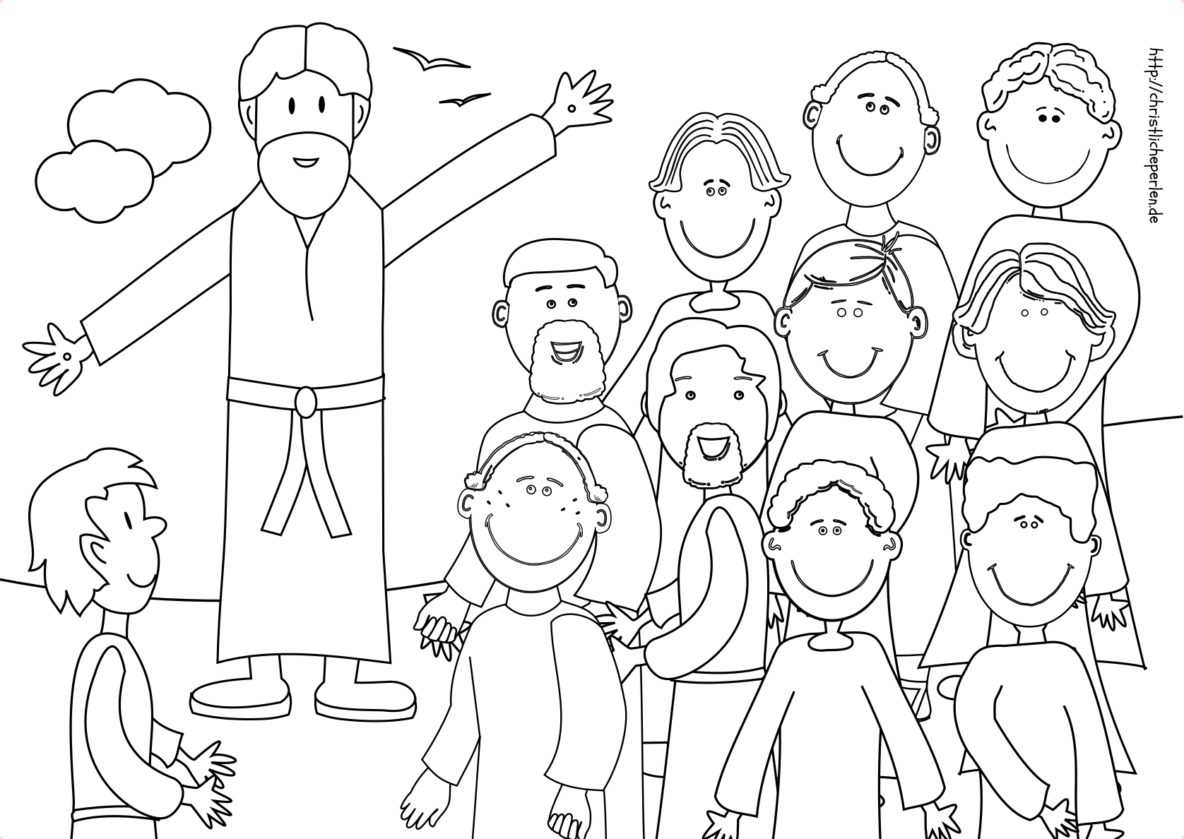 Christi Himmelfahrt Ausmalbilder | Christliche Perlen