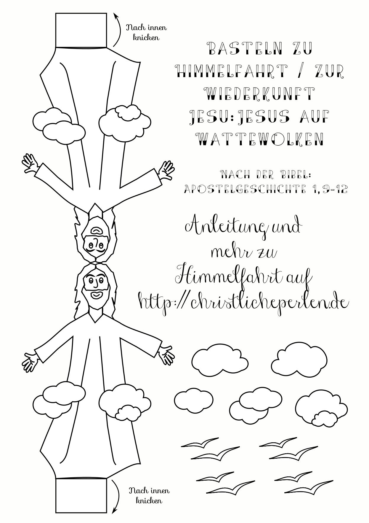 Basteln zu Himmelfahrt | Christliche Perlen