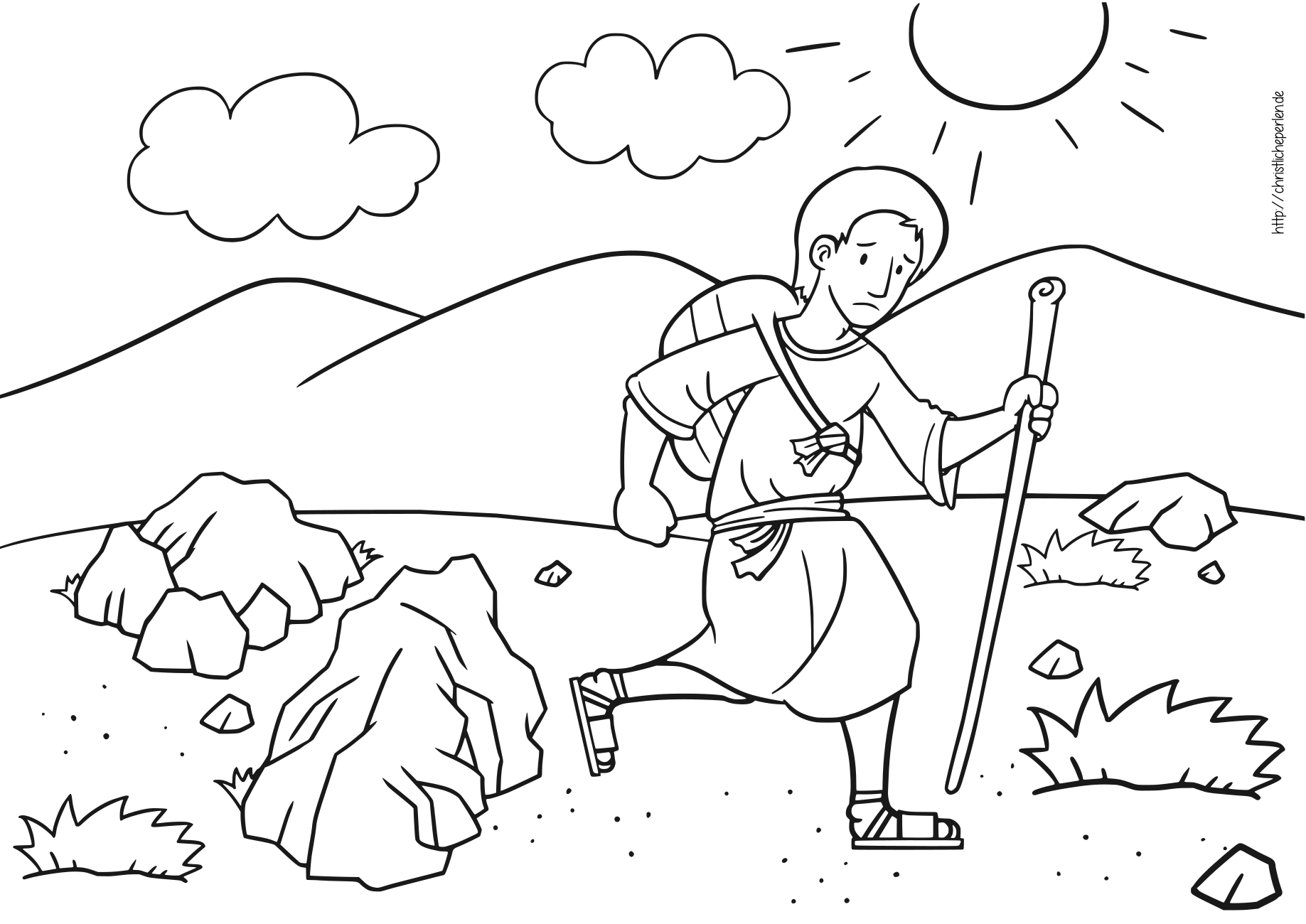 God Is Bigger Coloring Page