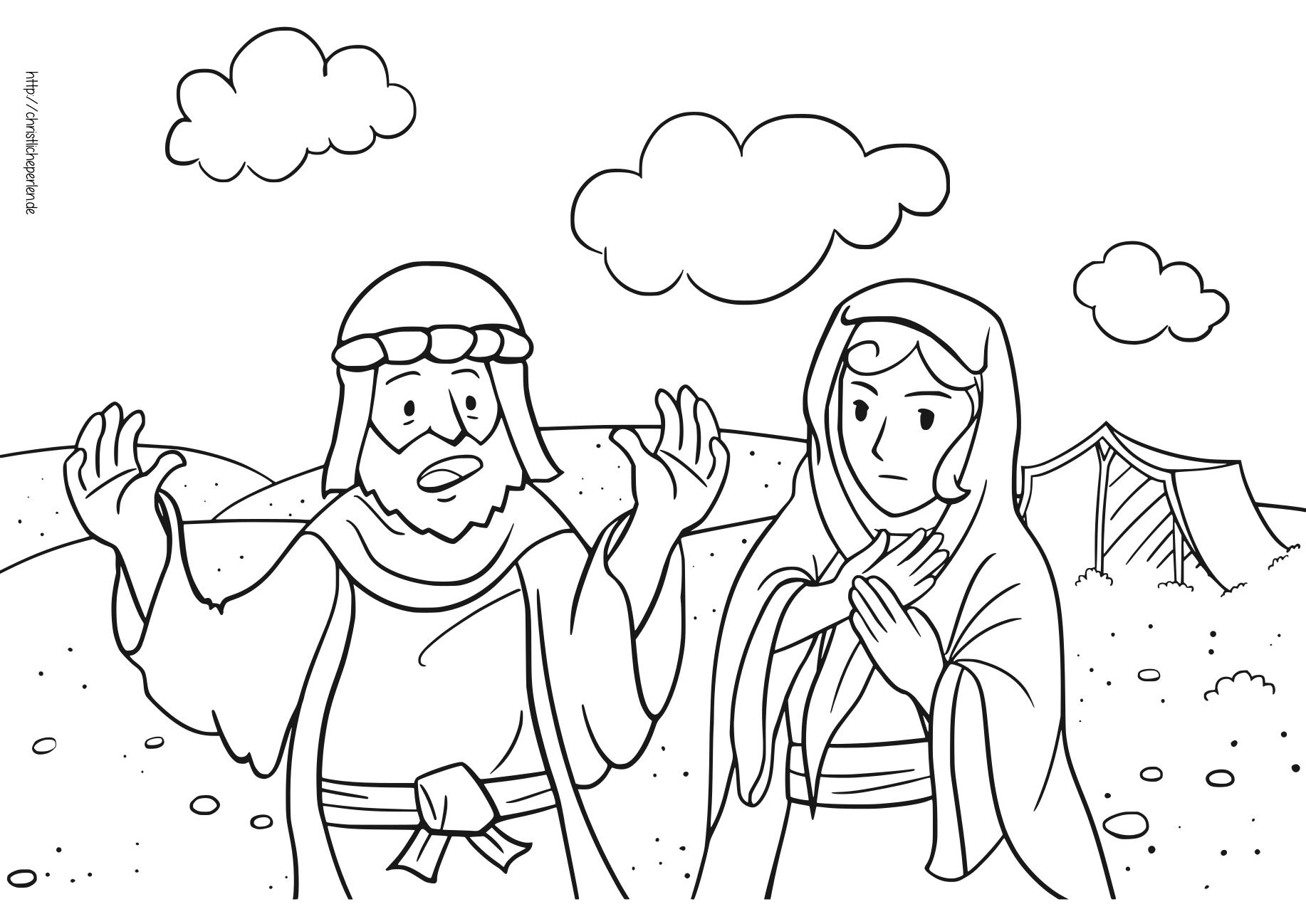 Abram und Sarai Ausmalbilder / Coloring Pages | Christliche Perlen