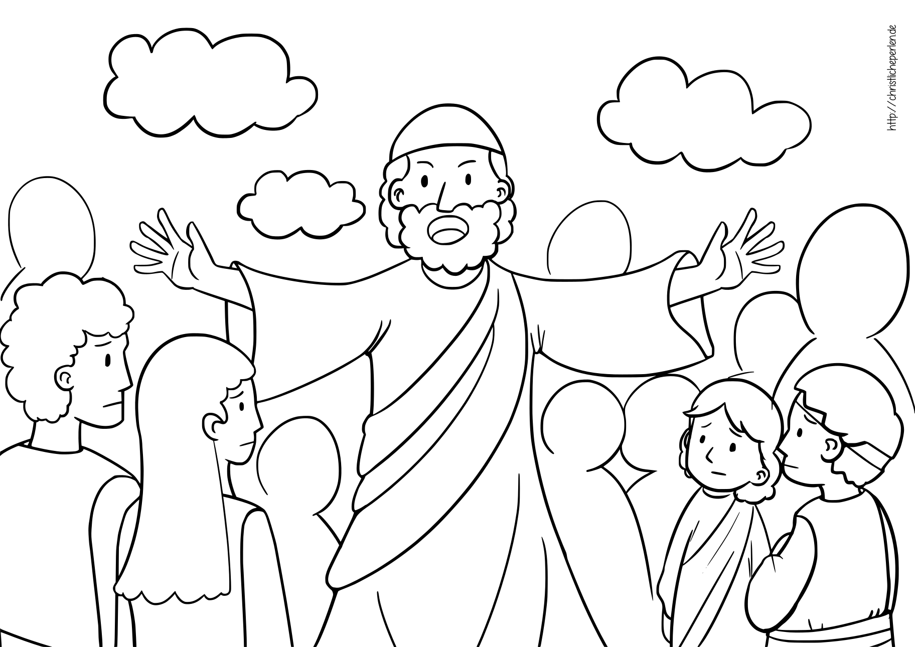 Mose Teilt Das Meer Ausmalbilder Crossing The Sea Coloring Pages