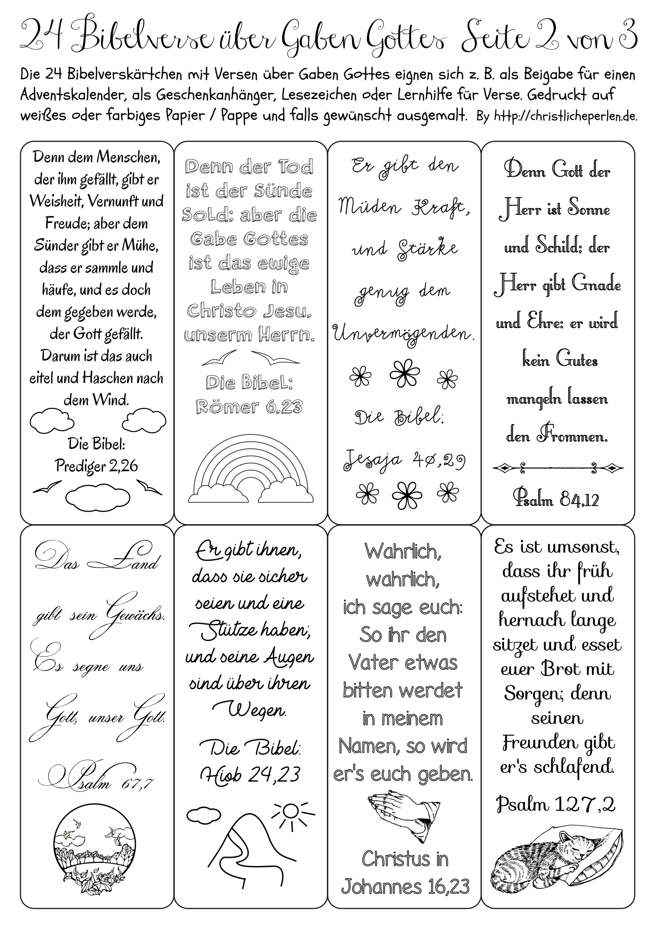 24 sprüche für adventskalender 24 Bibelverse z. B. für einen Adventskalender | Christliche Perlen 24 sprüche für adventskalender