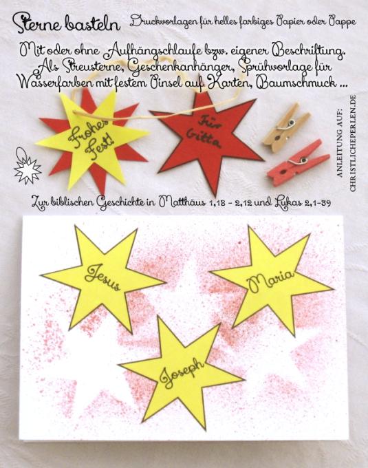 Weihnachten Basteln Mit Kindern Vorlagen: Christliche Perlen