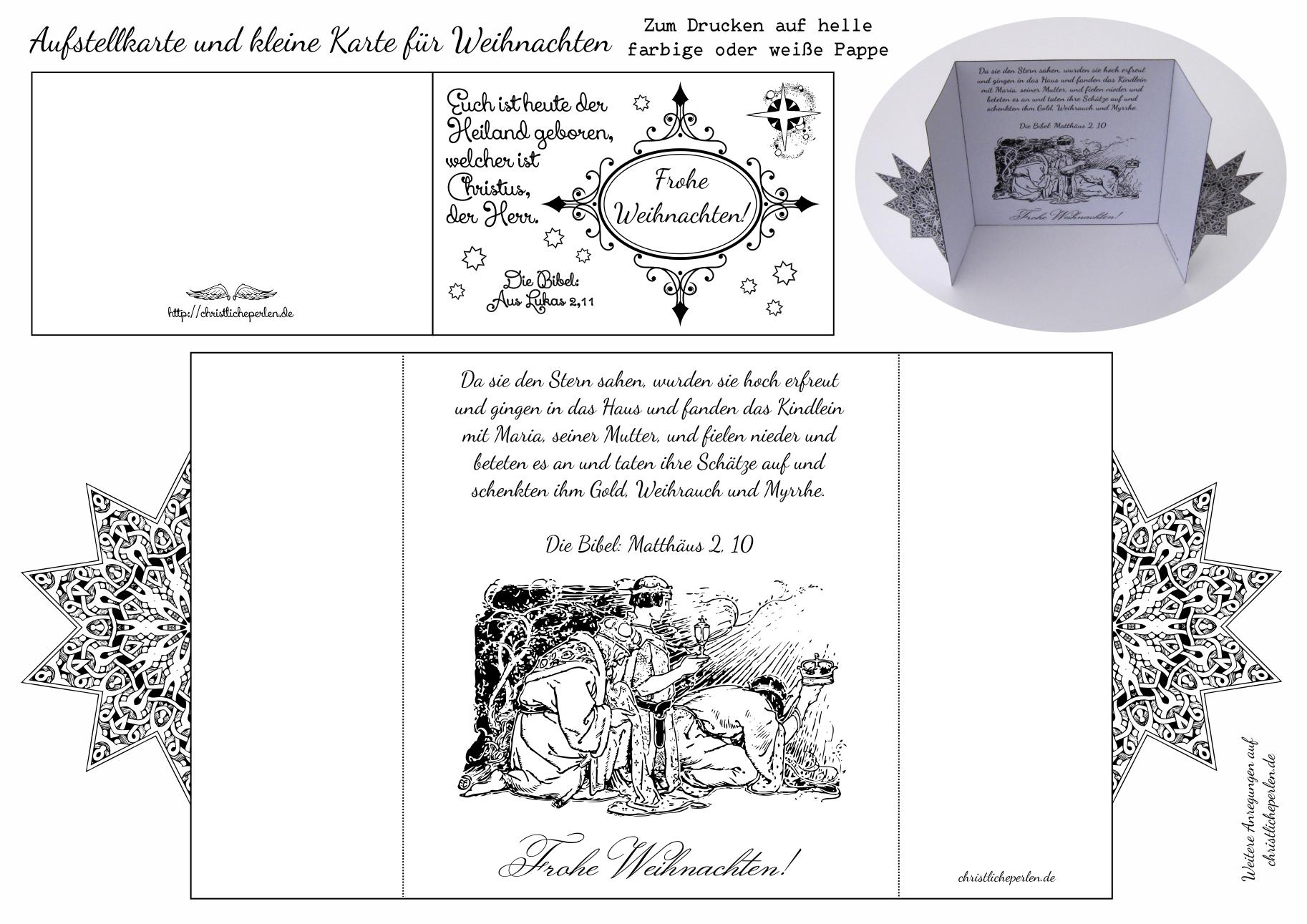 Basteln zu weihnachten christliche perlen - Vorlage weihnachtskarte ...