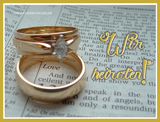 Hochzeit Ehe Christliche Perlen