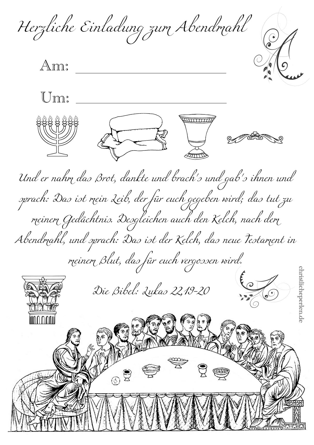 Abendmahl | Christliche Perlen