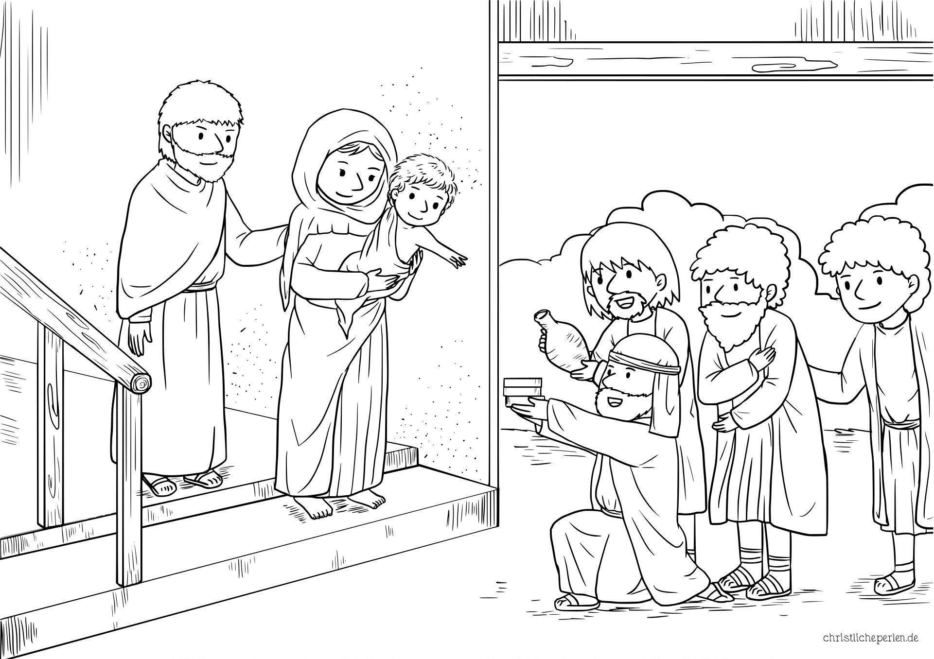 Ausmalbilder Zu Weihnachten Christliche Perlen