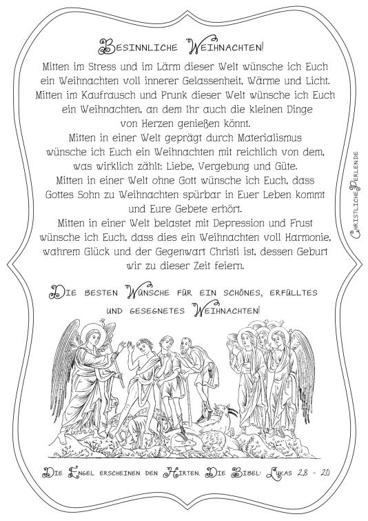 Weihnachten Texte Zum Nachdenken.Texte Zu Weihnachten Christliche Perlen