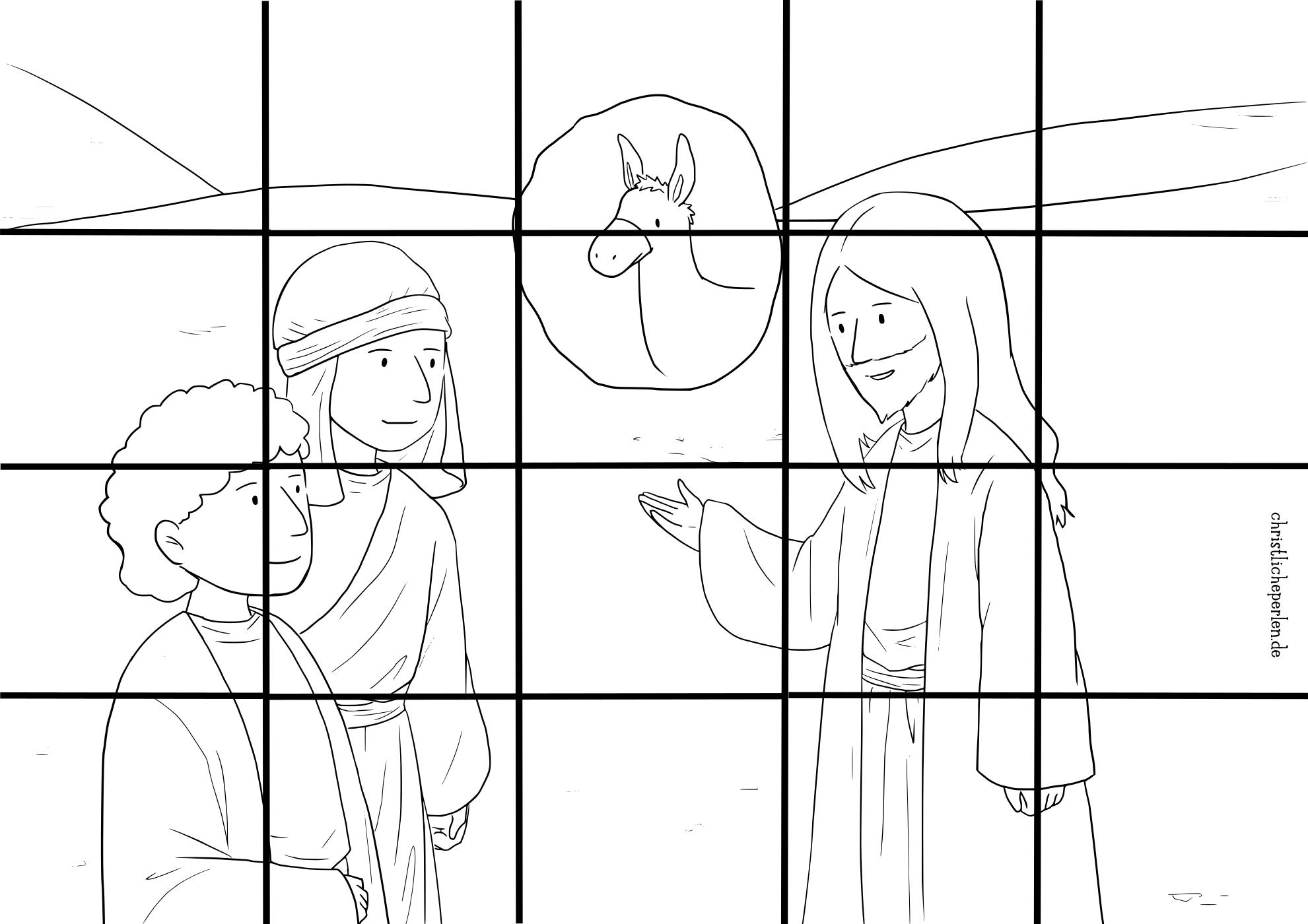 Puzzles zum Ausmalen | Christliche Perlen