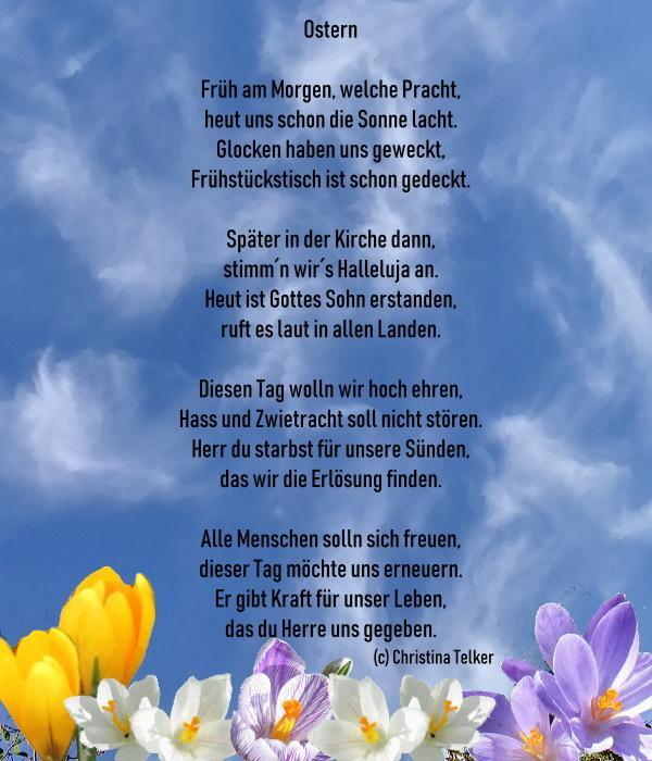 Gedichte ostern christlich