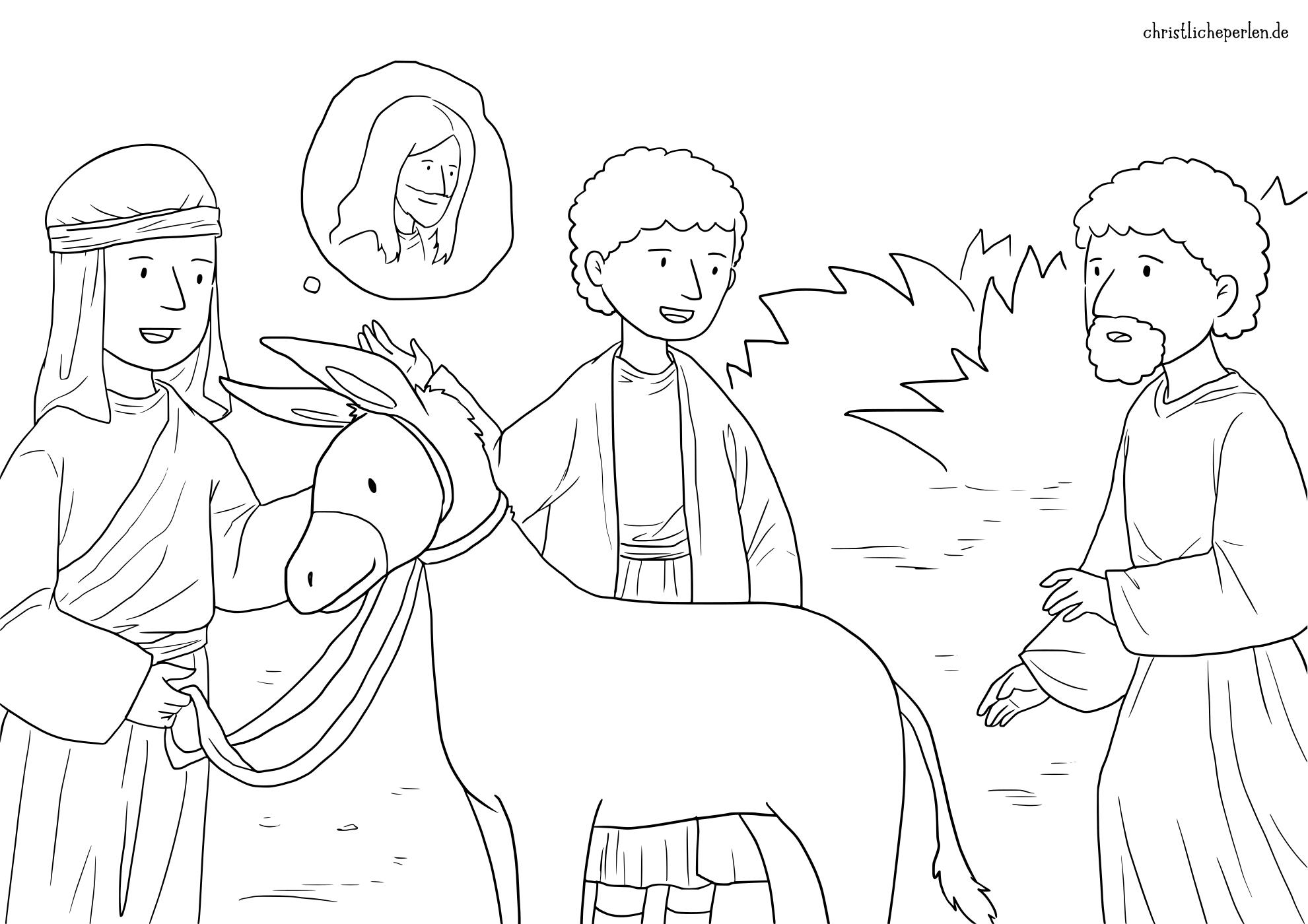 Ausmalbilder Zu Palmsonntag Christliche Perlen