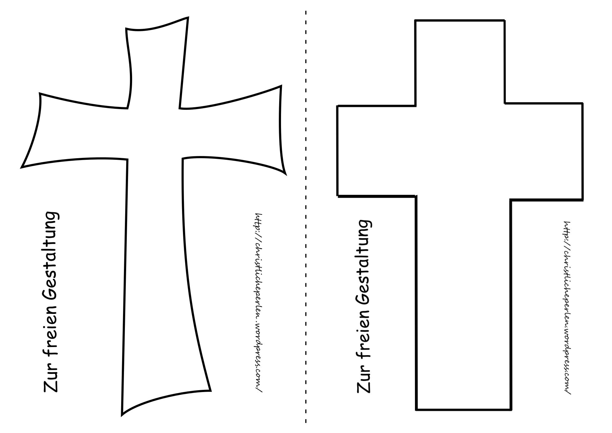 Kreuz Basteln Christliche Perlen