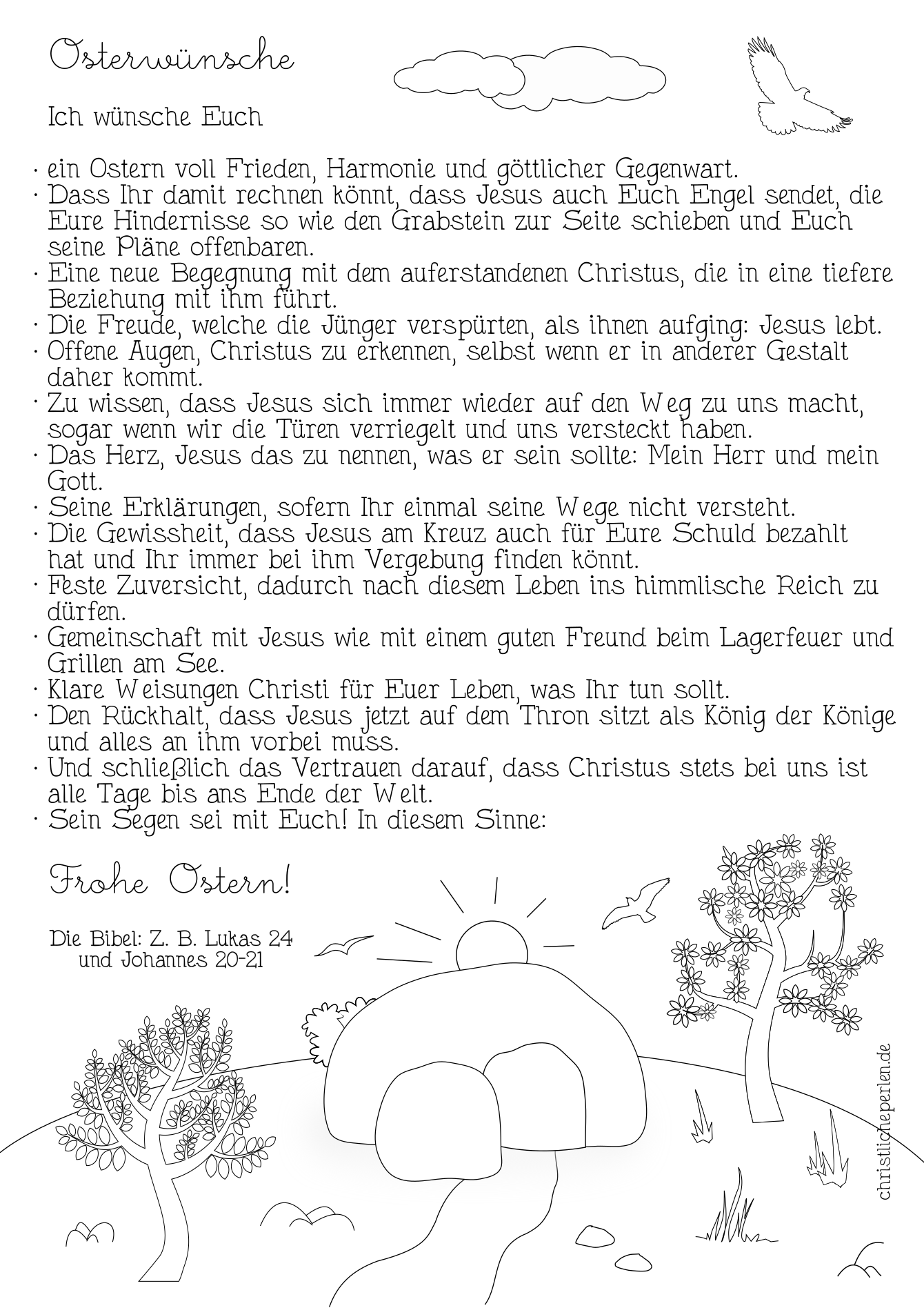 Texte Zu Ostern Christliche Perlen